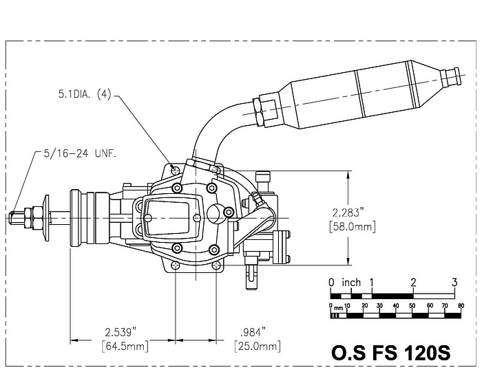 The Rc Model Airplane Engine The O S Fs 120 Mk 3 Surpass