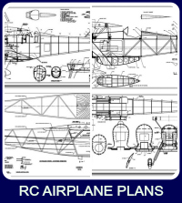 Collage of RC airplane plans