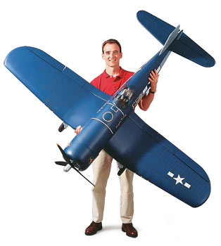 The Rc Vought Corsair Top Flite S 60 Size And Giant Scale