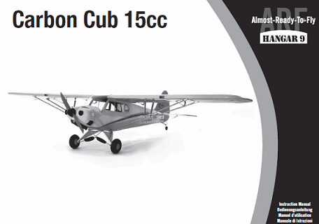 Hangar 9 manual for the Carbon Cub 15cc RC airplane.