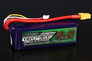 The Turnigy Nano-Tech 4S 2200mAh Lipo battery