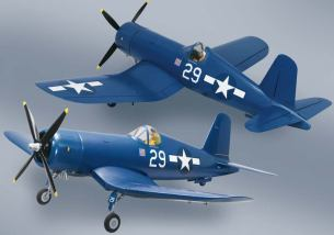 The Top Flite RC Corsair ARF 50cc Giant Scale Warbird: 2 views