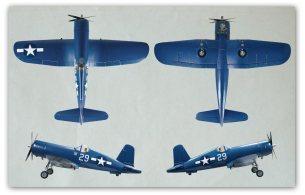 The Top Flite RC Corsair ARF 50cc Giant Scale Warbird:4 views