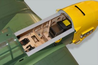 Phoenix Models RC Stuka:Hatch removed for Lipo replacement