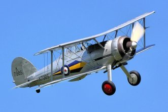 Gloster Gladiator flying at Old Warden, U.K.