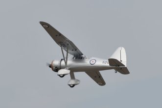 Phoenix Models large scale Westland Lysander. Photo showing flying by.