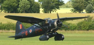 All black Lysander, used for covert operations in WW2.