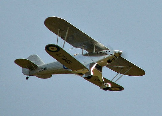 1/5 scale Fairey Fantome flying by