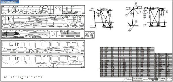 RC Scale Fairey Swordfish Cad Drawings: Parts