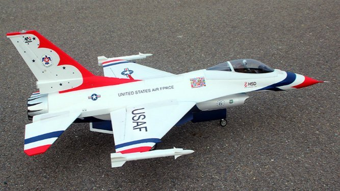 HSD F-16 T-Bird side view
