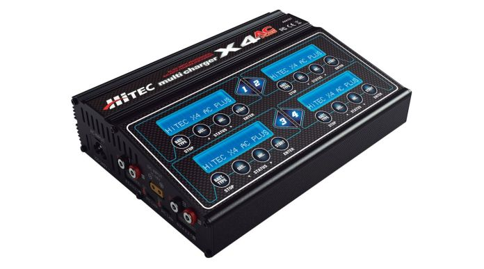The Hitec X4+ 4 channel AC/DC Charger