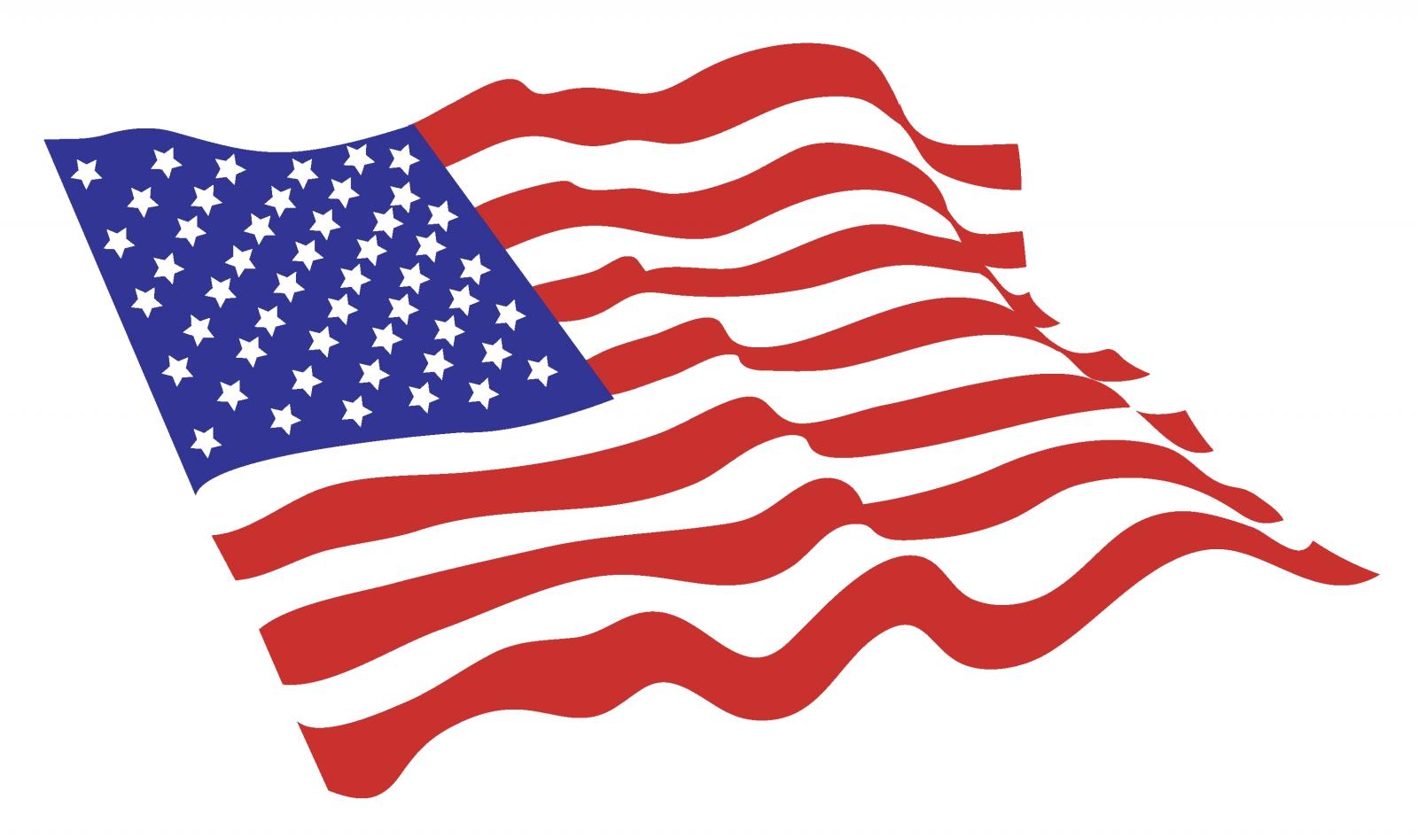 USA Flag flying