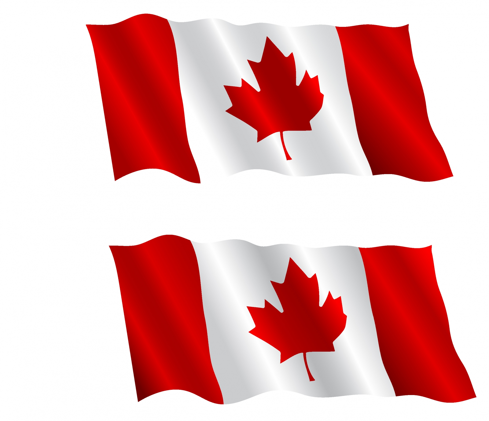 Canadian flags flying