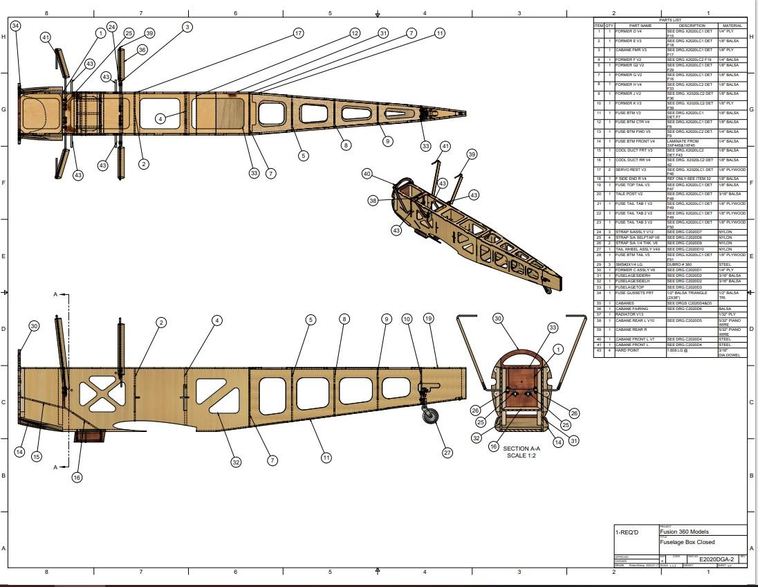 RC Hawker Demon: Fuselage box construction.