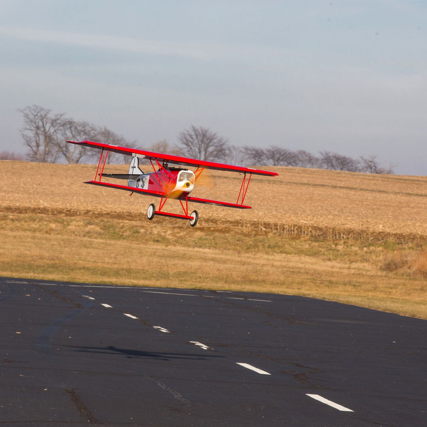 Hangar 9 RC Fokker D-7: Landing