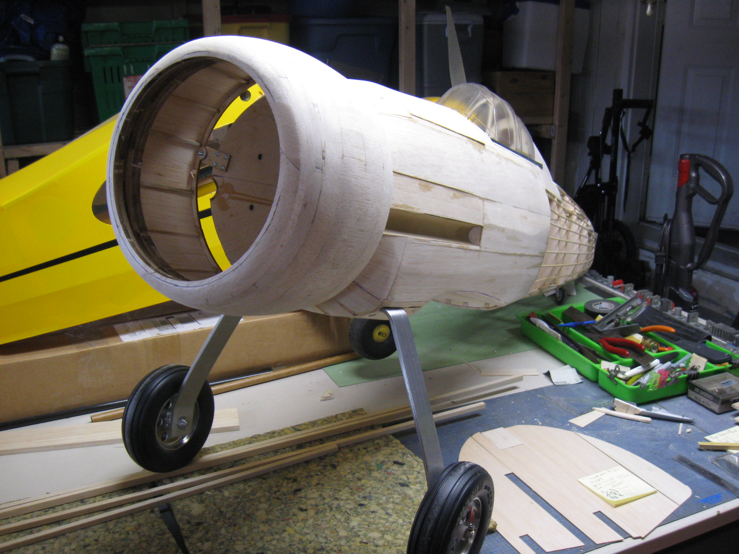 RC Gladiator Construction: Complete Fuselage.
