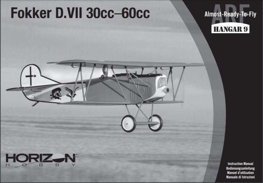Hangar 9 RC Fokker D7 ARF