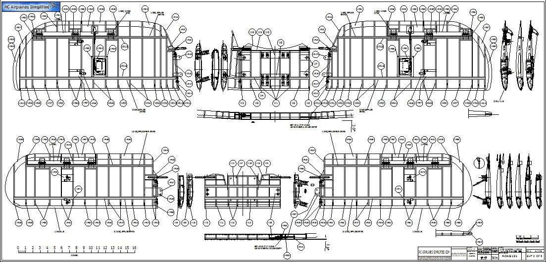RC Scale Fairey Swordfish Cad Drawings: Wings