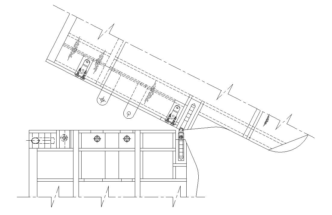 RC airplane plans of the Fairey Swordfish:Lower wing fold mechanism.