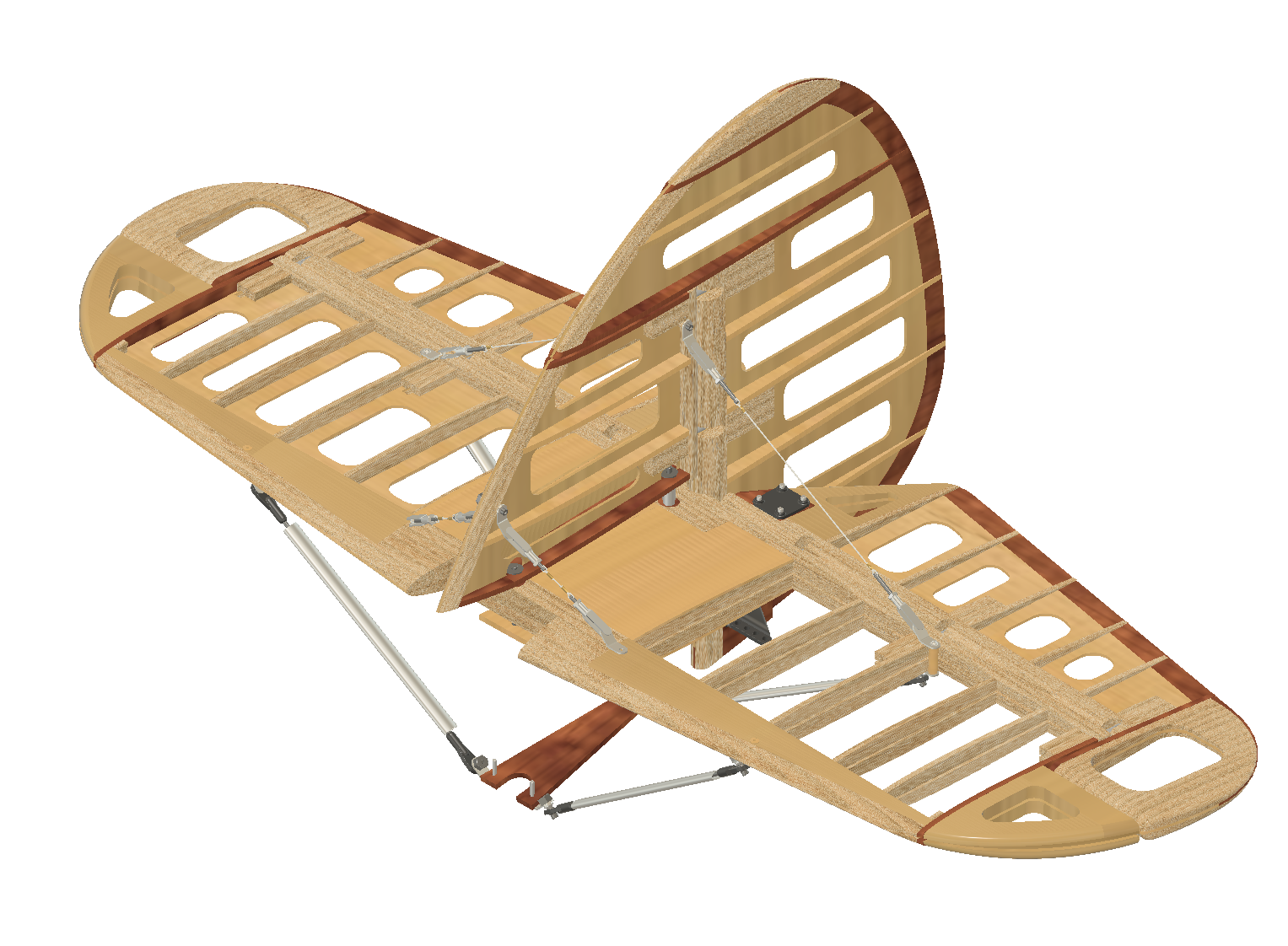 RC Hawker Demon: Tail assembly