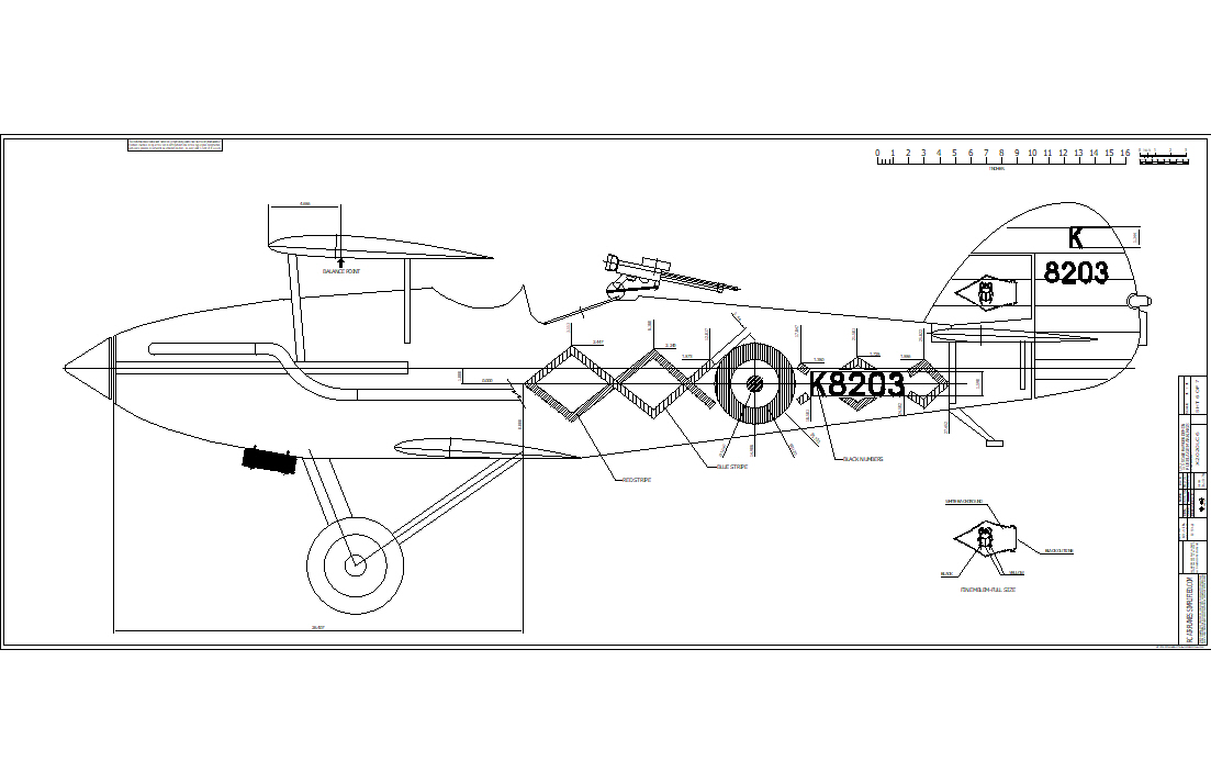 The Hawker Demon of the Shuttleworth Collection. Fuselage Markings.
