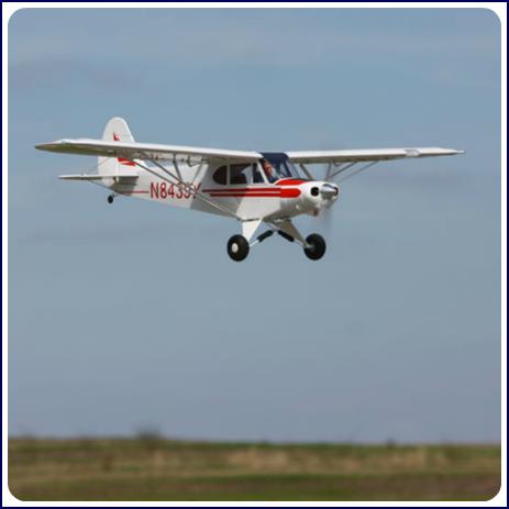 The E-Flite Super Cub RC 25e ARF.