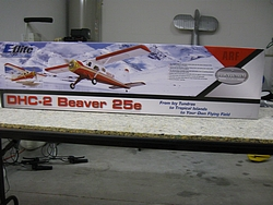 E-Flite DHC Beaver 25e box