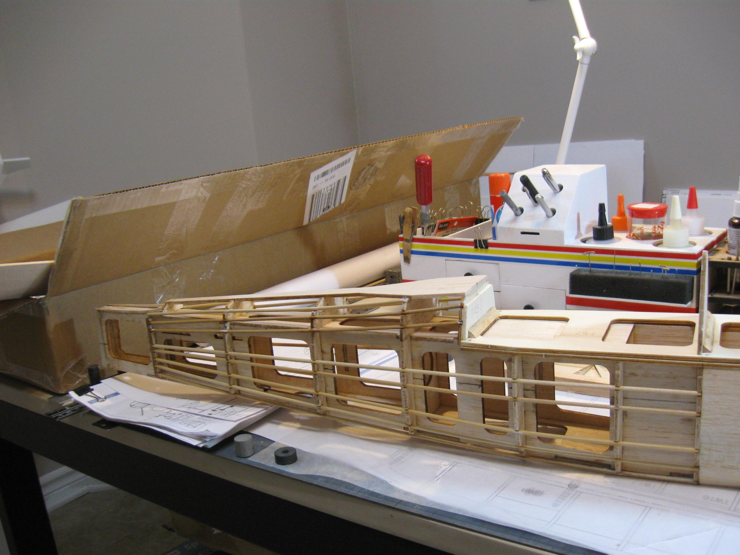 RC Fairey Swordfish construction:Fuselage