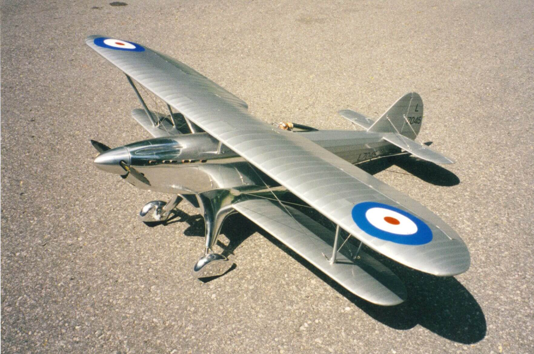 RC model of the Fairey Fantome: 1/5 full size:3/4 top view.