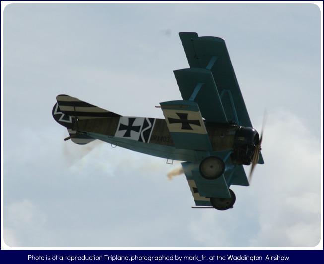 Fokker Triplane flying by