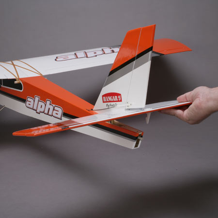 Hangar 9 Alpha Trainer tail