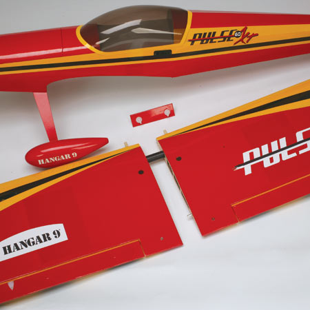 Hangar 9 Pulse 60 canopy and wing detail