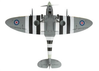 Hangar 9 Spitfire IXC 30cc ARF:Underside showing retracts