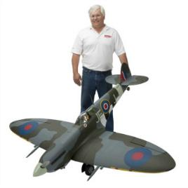 Hangar 9 Spitfire IXC 30cc ARF:With happy owner