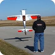 Hangar 9 Extra 300 hovering