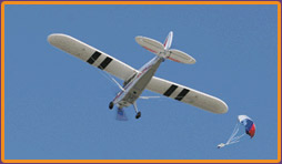 The Hobbyzone Super Cub and Parachute drop