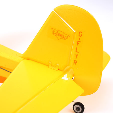 Hobbyzone Champ contol surfaces