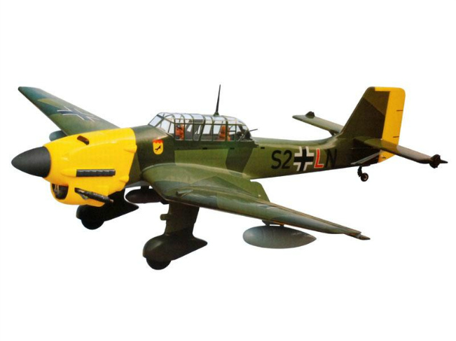 Overall view of an RC Stuka
