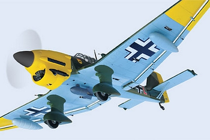 Flying the BH Models RC Stuka