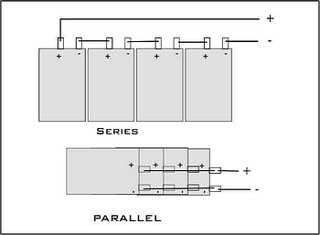 Series/Parallel battery connection sketch