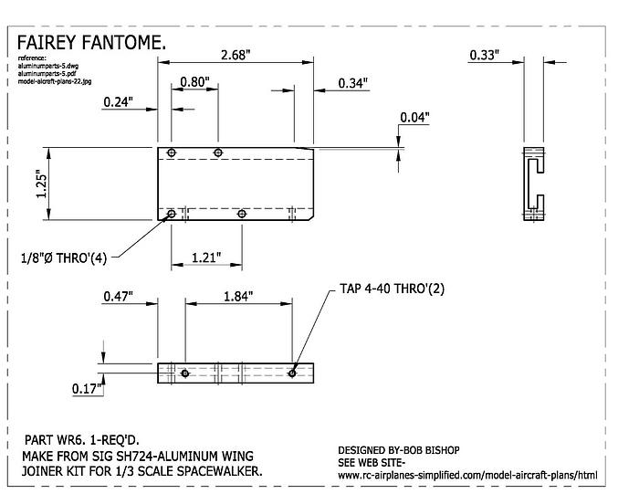 Fairey Fantome 1/5 scale RC airplane