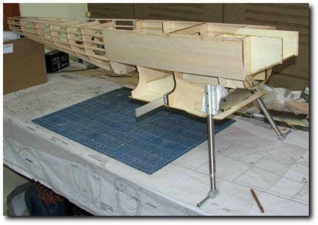 Fairey Fantome 1/5 scale RC airplane: Fuselage construction.