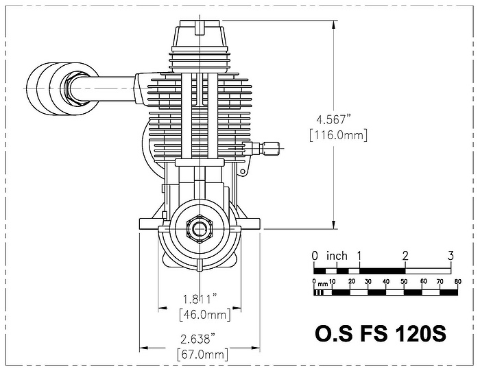 OS FS 120 Surpass CAD front