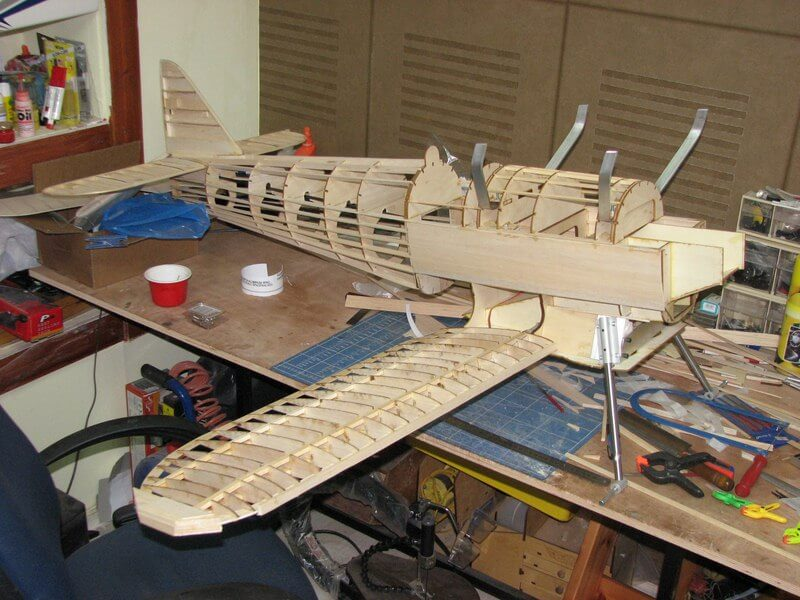 RC model of the Fairey Fantome: 1/5 full size:Fuselage building.