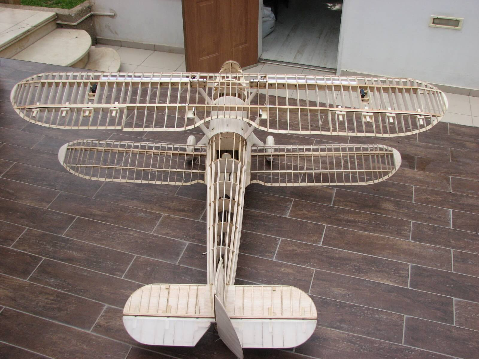 RC model of the Fairey Fantome: 1/5 full size:Completed construction-top view.