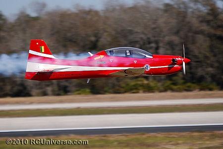 Tucano turboprop flyby