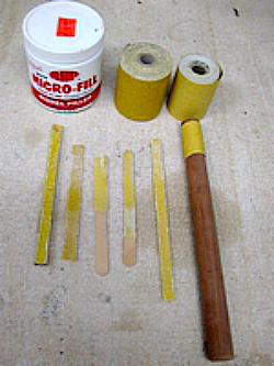 Custom sanding sticks