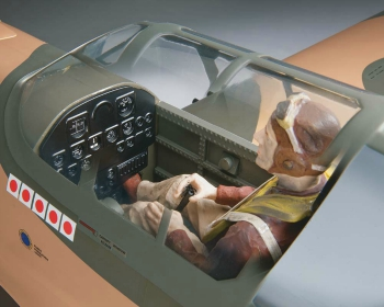 Top Flite P-40 cockpit