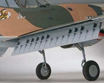 top Flite P-40 flaps