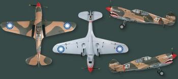 Top Flite P-40  3-view